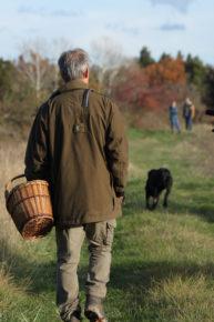 Trufficulteur et son chien