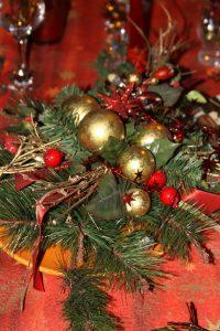 traditions de Noël centre de table
