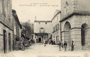 L'abbé Charvat carte postale église