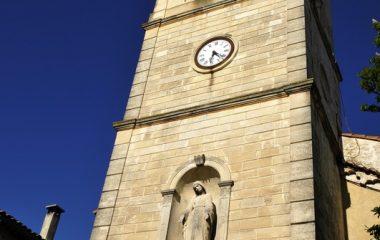 L'Abbé Charvat église de Réauville clocher