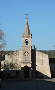Véran Molinas Montségur sur Lauzon chapelle st jean de face