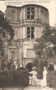 Marie Fontaine ruine château de Grignan Carte postale