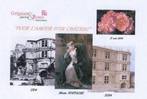 Marie Fontaine invitation inauguration Rose Pour l'amour d'un château