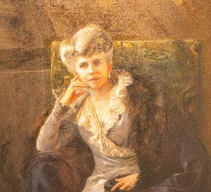 Marie Fontaine détail du portrait