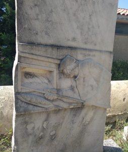 René Cottet stèle d'après son oeuvre