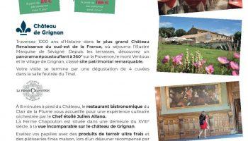 Journée Délice – Château de Grignan