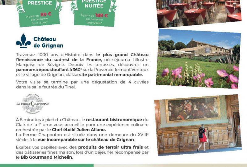 Journée Délice – Château de Grignan à Grignan - 0