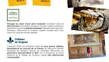 Journée Exploration : Château de Grignan et Ferme aux Crocodiles