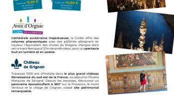 Journée Exploration : Château de Grignan et l'Aven d'Orgnac